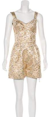 Dolce & Gabbana Sleeveless Brocade Romper