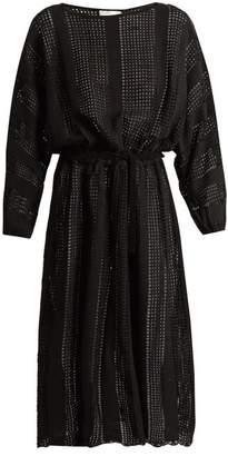 Zimmermann Gossamer Crochet Knit Dress - Womens - Black