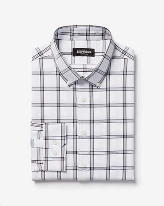 Express Slim Plaid Wrinkle-Resistant Performance Dress Shirt