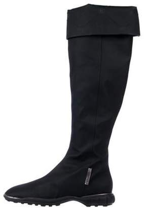 Chanel Woven Round-Toe Boots Black Woven Round-Toe Boots