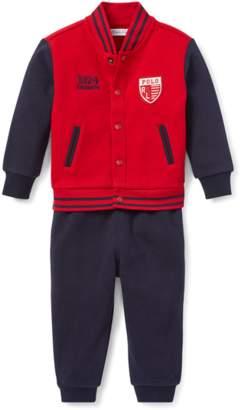 Ralph Lauren Kids Baseball Jacket Jogger Set