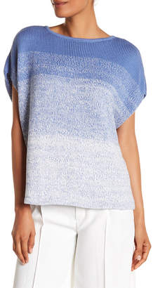 Vince Textured Ombre Cap Sleeve Sweater