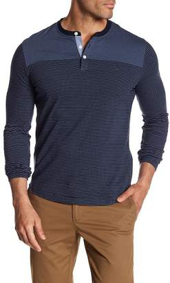 Original Penguin Long Sleeve Engineered Stripe Henley