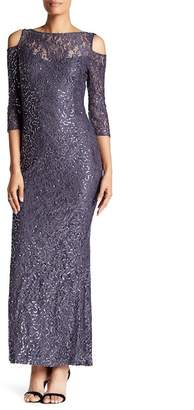 Marina Sequin Lace Gown $179 thestylecure.com