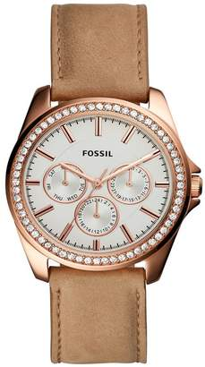 Fossil Women's Janice Leather Strap Watch, 38mm