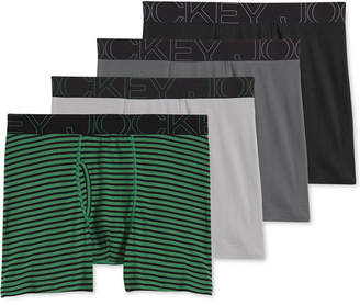 Jockey Men's 4-Pack Active Blend Boxer Brief
