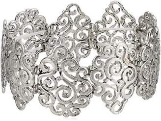 F&F FF Scroll Teardrop Stretch Bracelet