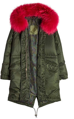 Mr & Mrs Italy Down Coat with Fur-Trimmed Hood