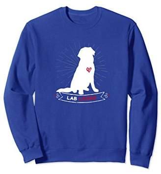 Breed Lab Lover Cute Dog Graphic Sweatshirt