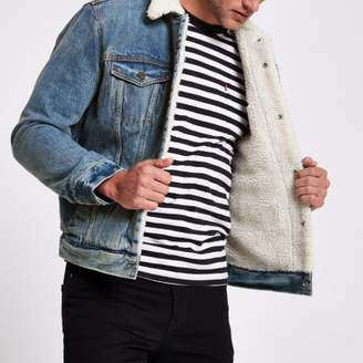 Levi's faux shear denim trucker jacket