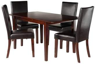 Winsome Wood Anna 5-Piece Dining Table with Chairs Set, Walnut