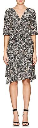 Isabel Marant Women's Brodie Floral Silk-Blend Dress - Black
