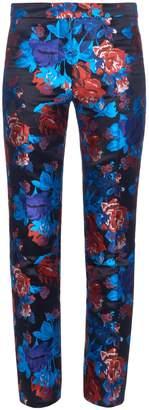 Mary Katrantzou Cigarette floral-jacquard trousers