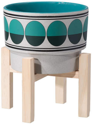 ZUO Retro Md Planter Green & Teal