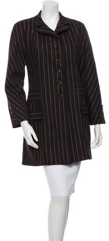 ValentinoValentino Striped Wool Coat