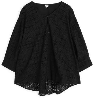 Arket Broderie Anglaise Blouse
