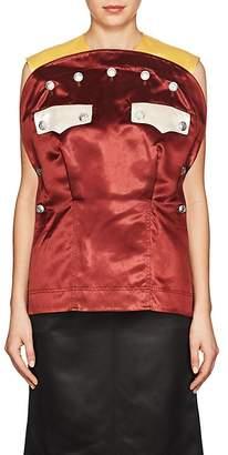 Calvin Klein Women's Colorblocked Satin Uniform Top