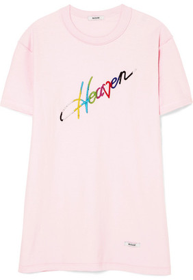BLOUSE Heaven Embroidered Cotton-jersey T-shirt