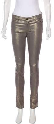 Monika Chiang Low-Rise Metallic Jeans
