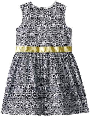 Toobydoo Navy and Yellow Garden Party Dress Girl's Dress