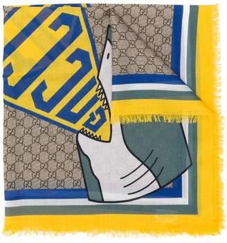 Gucci Kids shark print scarf