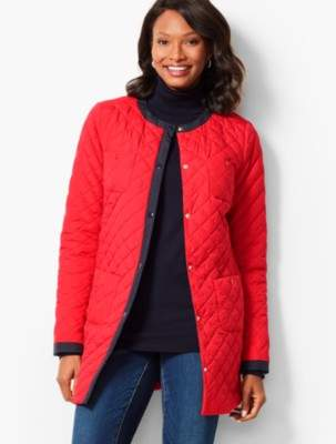 Talbots Collarless Quilted Jacket