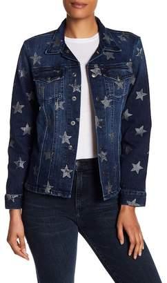 Current/Elliott The Mechanic Star Print Denim Jacket