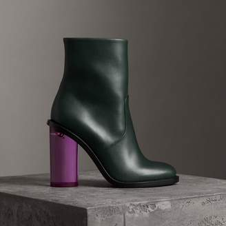 Burberry Two-tone Leather High Block-heel Boots