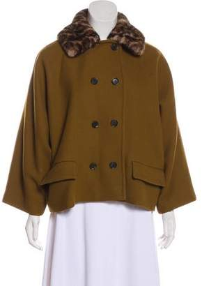Gucci Mink-Trimmed Wool Jacket