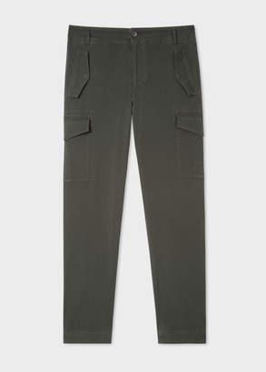 Paul Smith Men's Regular-Fit Dark Green Stretch-Cotton Pocket Pants