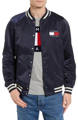 Men's Tommy Hilfiger Tjm Satin Bomber Jacket $229 thestylecure.com