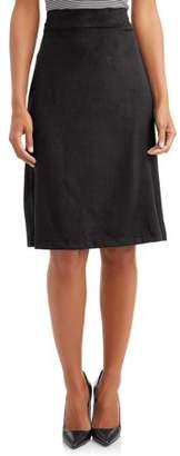 LA Gypsy Women's Faux Suede Skirt