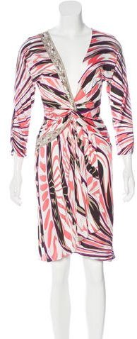 Emilio Pucci Emilio Pucci Embellished Abstract Print Dress w/ Tags