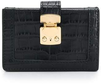 Miu Miu crocodile embossed leather wallet