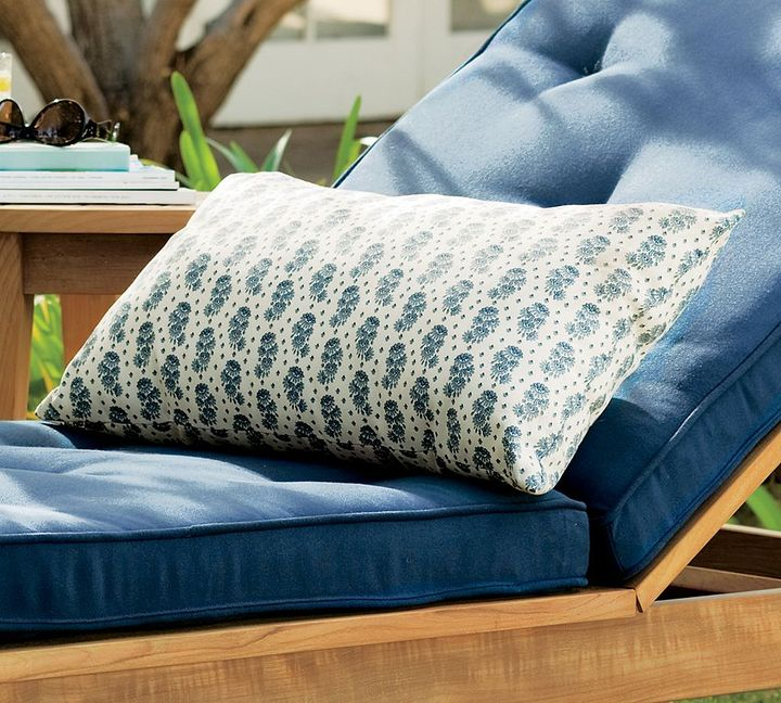 Boutis Floral Outdoor Lumbar Pillow
