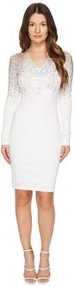 Just Cavalli Long Sleeve Fitted Short Dress Women's Dress