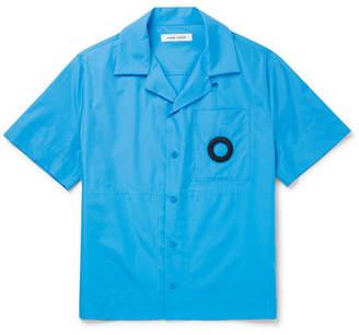 Craig Green Camp-Collar Embroidered Cotton-Poplin Shirt - Men - Blue