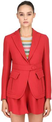 L'Autre Chose Double Wool Crepe Blazer