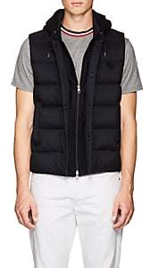 Moncler Men's Hooded Down Vest-Navy