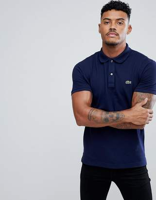 Lacoste Slim Fit Pique Polo in Navy