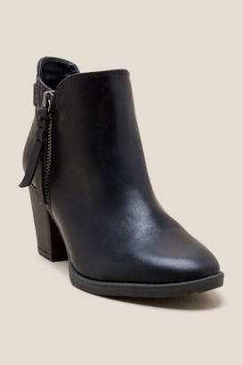 francesca's Jamie Zipper Ankle Boot - Black