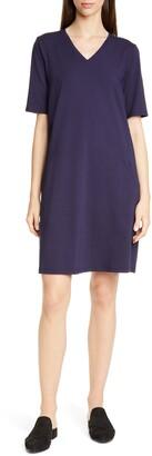 Eileen Fisher Stretch Cotton A-Line Dress