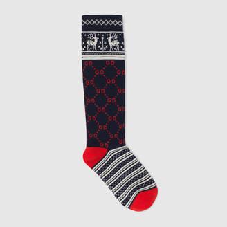 Gucci Children's GG reindeers cotton socks