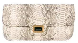 Kara Ross Metallic Python Clutch