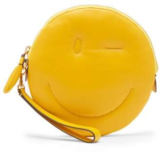 Anya Hindmarch Wink Chubby Leather Clutch - Womens - Yellow