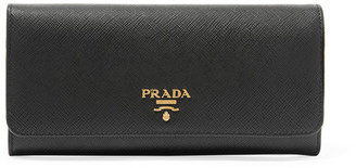 Prada - Textured-leather Wallet - Black $680 thestylecure.com