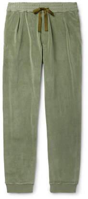 Haider Ackermann Tapered Cotton-Blend Velvet Sweatpants