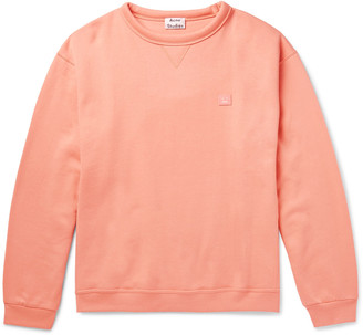 Acne Studios Fint Fleece-Back Cotton-Jersey Sweatshirt $240 thestylecure.com