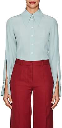 Victoria Beckham Women's Silk Crepe Cutout-Sleeve Blouse