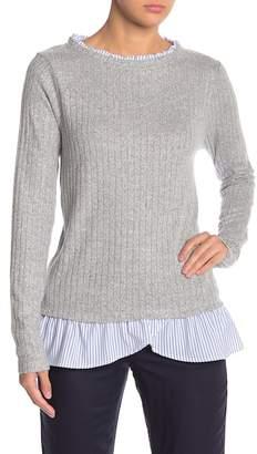 Olivia Sky Ribbed Ruffle Sweater